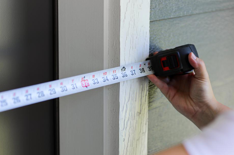 measure for storm doors