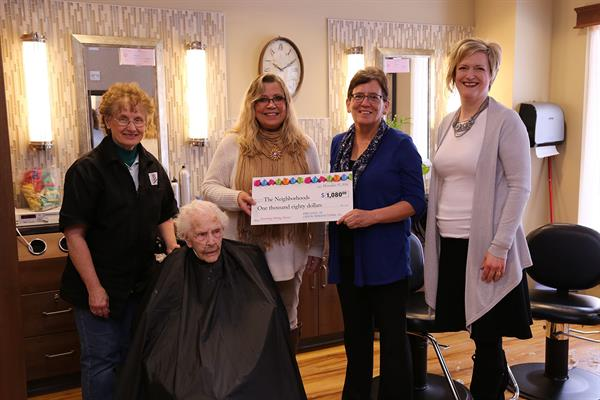 Employees Donate 108 Haircuts to Nursing Home Residents