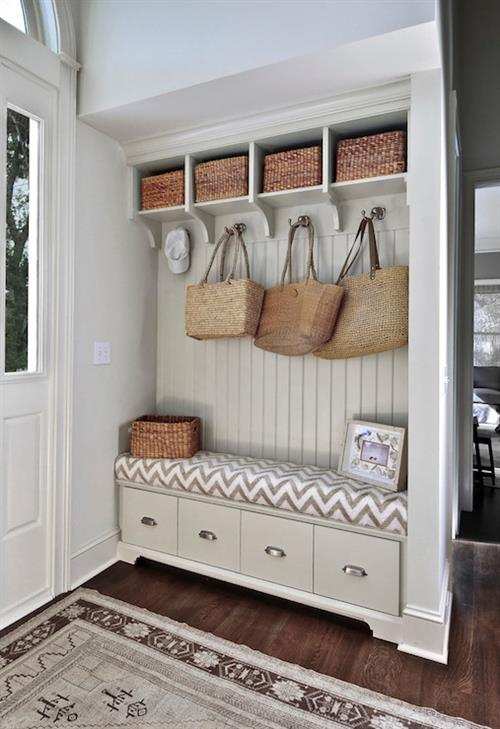 built in storage clears clutter