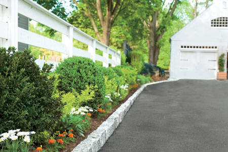 Edge your driveway to add curb appeal