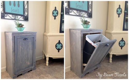 Keep clutter down by adding a waste basket