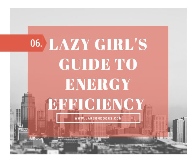 The Lazy Girl's Guide To Energy Efficiency