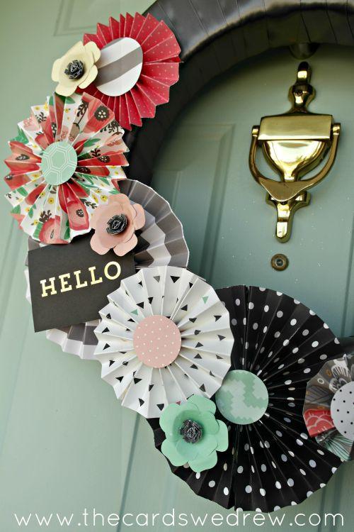Modern + Crafty Spring Wreath
