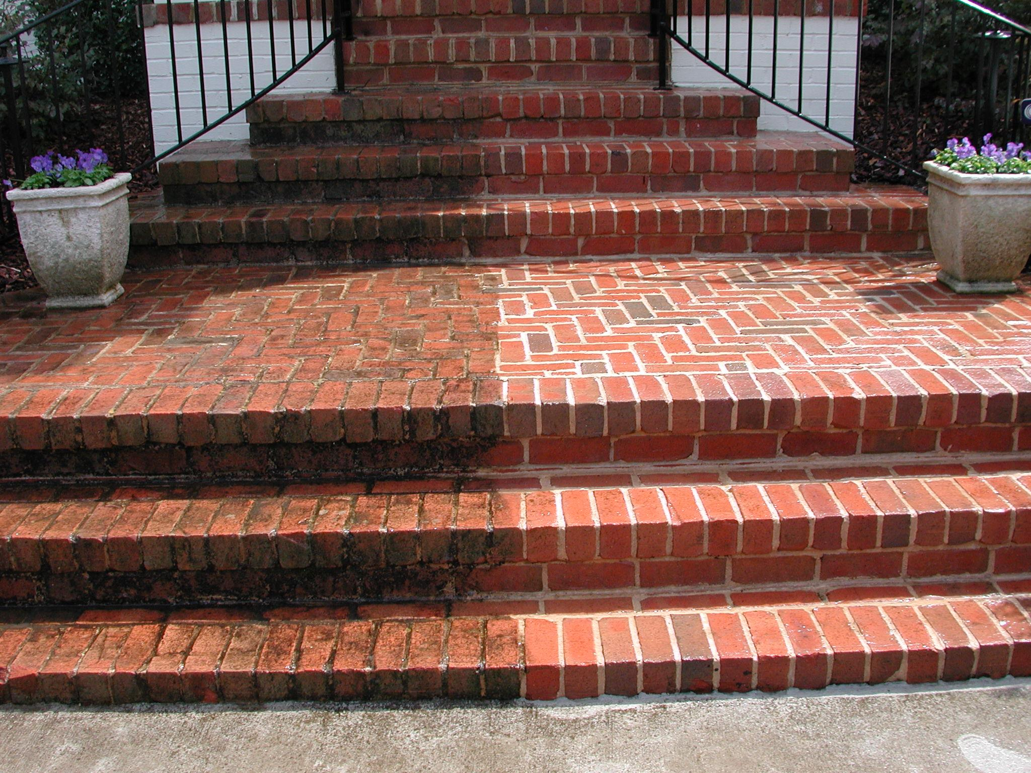 Power wash your brick for a refreshed look