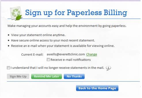 Paperless billing keeps clutter down