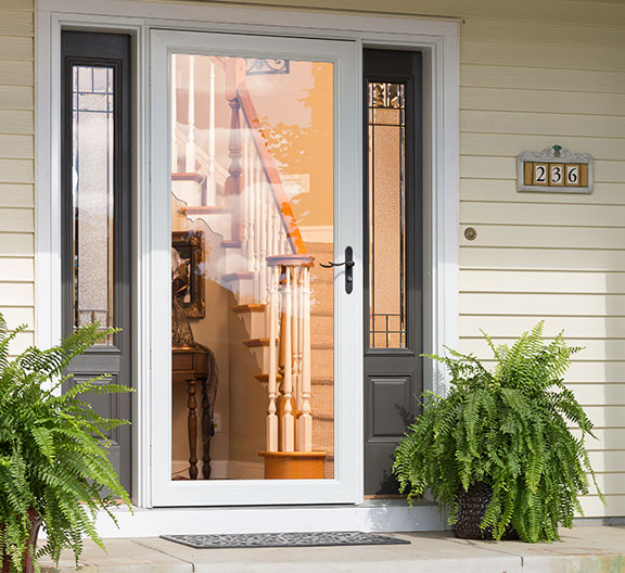 retractable screen security storm doors larson storm doors