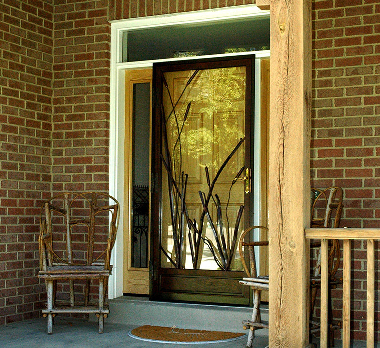 steel security storm doors