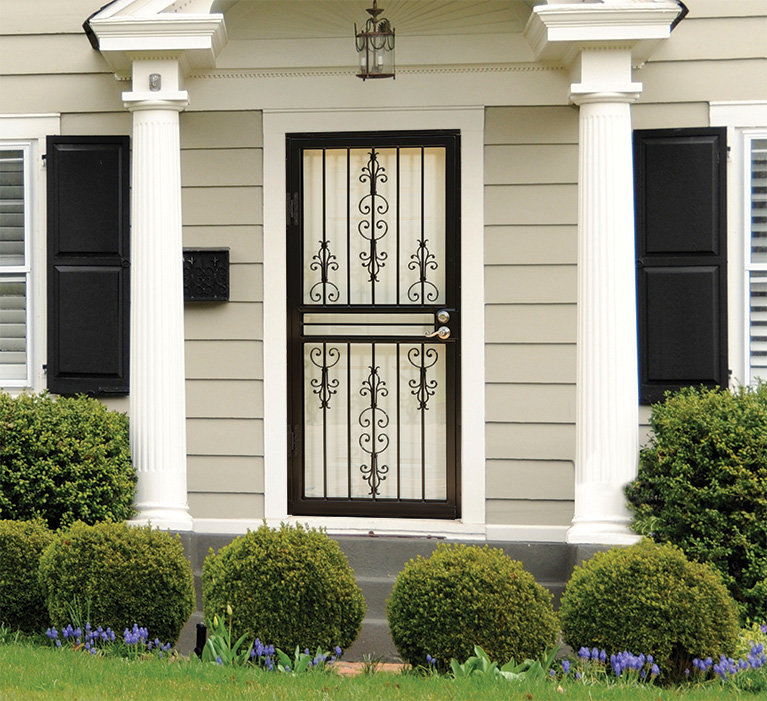 larson gardenview steel security doors