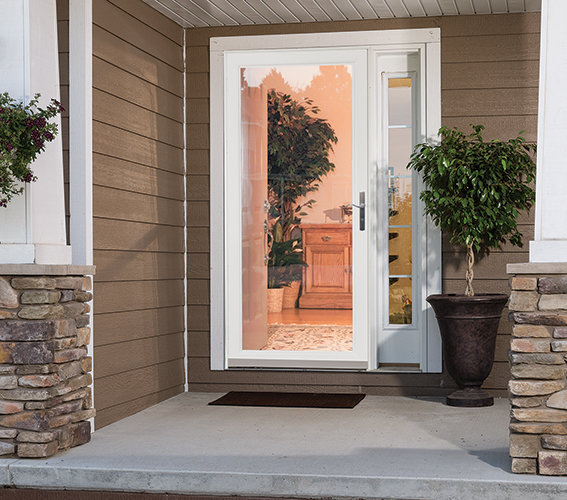 Larson Security Storm Door with No Bars HD - Review larson retractable screen door Top Search