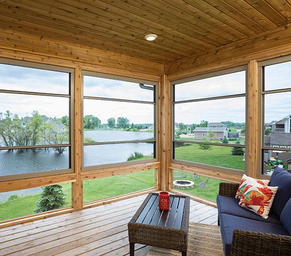 Scenix Retractable Porch Window