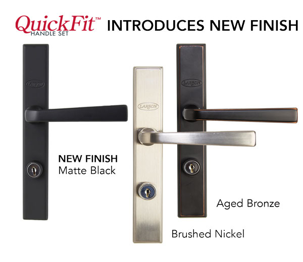 Larson QuickFit Easy Install Bronze Matching Handleset for Envison Storm Doors