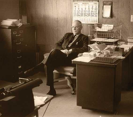 Oscar Larson, founder of Larson Manufacturing