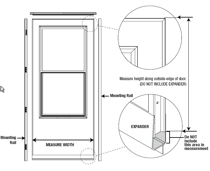 Measuring door width and height