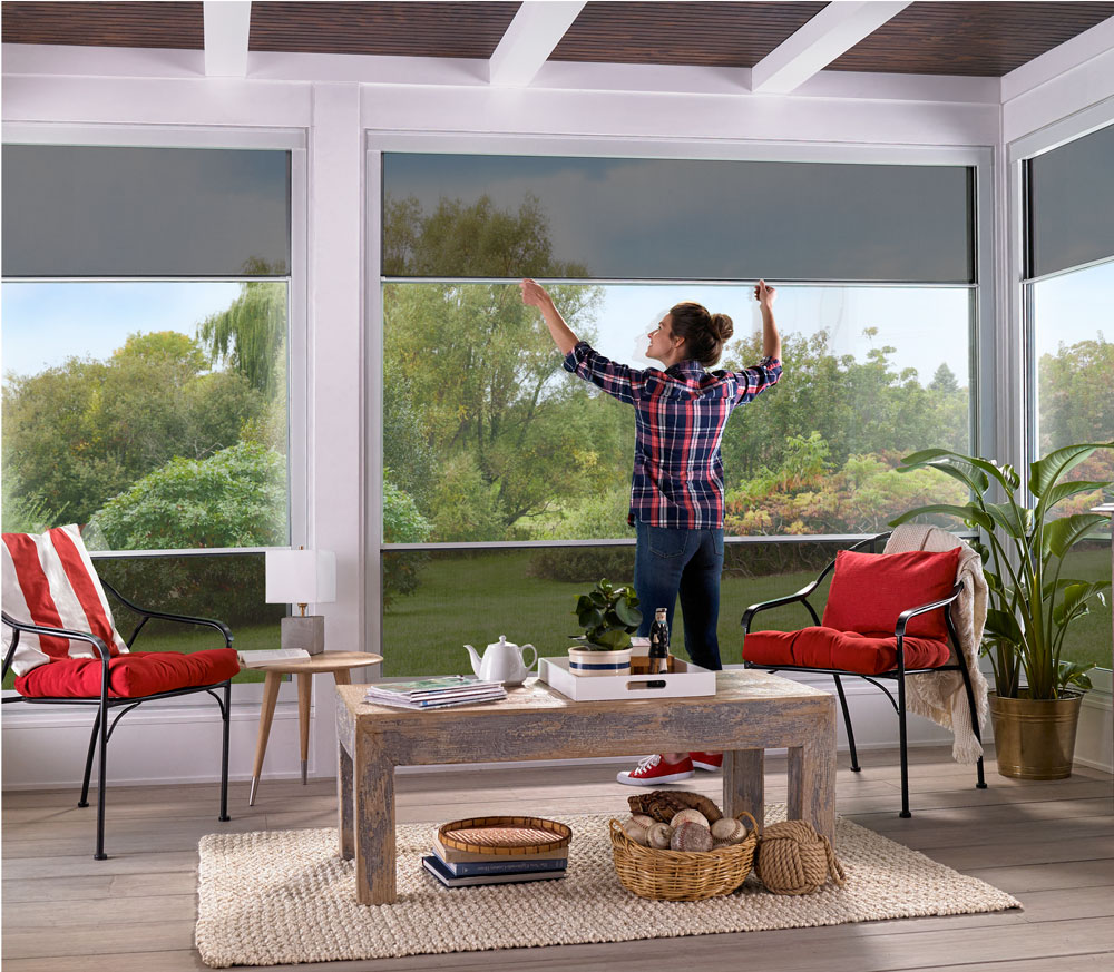 enclosed porch windows diy scenix has completely opened up our view its an easy way to let in the fresh air and now we can spend more time relaxing on porch retractable screen windows for your porch