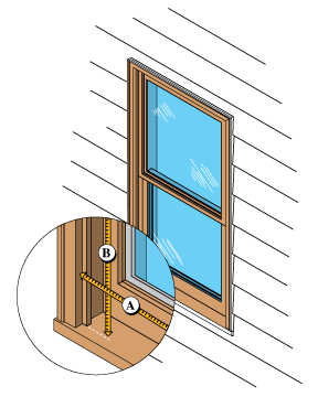how to measure for a storm window
