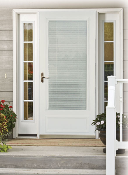 Larson Storm door with built in blinds & Our History