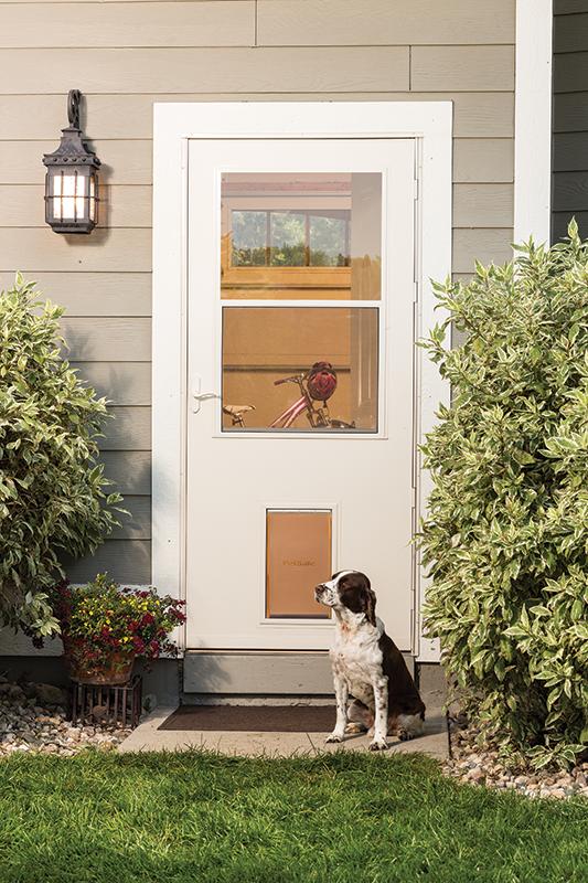 LARSON Makes Storm Door With Built-In Pet Door & Our History Pezcame.Com