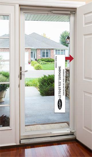 where do I find my door registration number & Contact Us   Larson Storm Doors