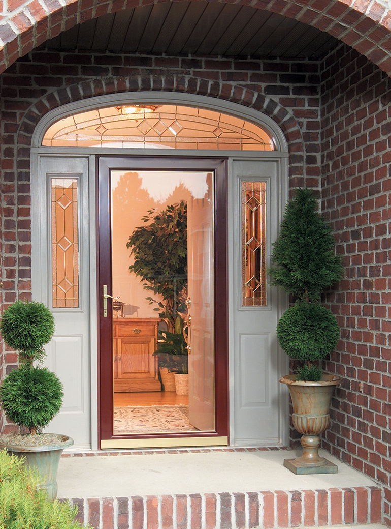 Full Glass Secure Elegance on Larson Full View Storm Door