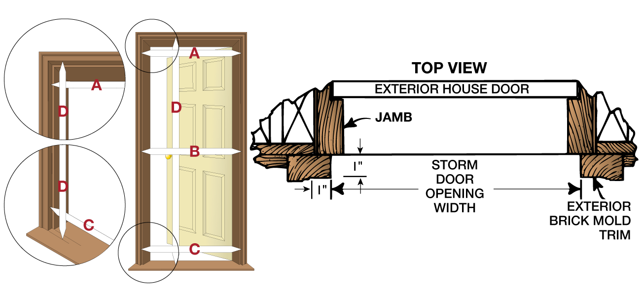 how to measure larson storm doors