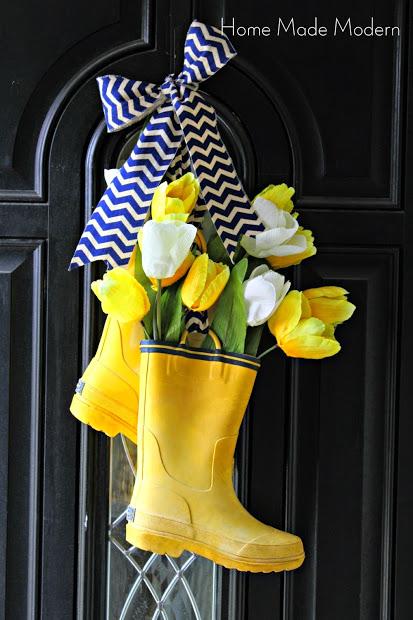 Rain Boots Wreath