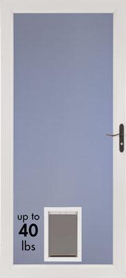 The New Storm Door Is A Pet Door Too